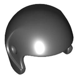Black Minifigure, Headgear Helmet Sports/Flight