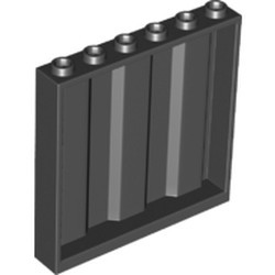 Black Panel 1 x 6 x 5 Corrugated - new