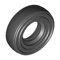 Black Tire 14mm D. x 4mm Smooth Small Single - new
