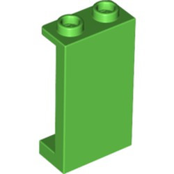 Bright Green Panel 1 x 2 x 3 with Side Supports - Hollow Studs - used