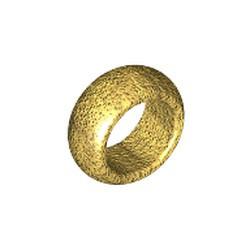 Chrome Gold Minifigure, Utensil Ring 1 x 1 - new