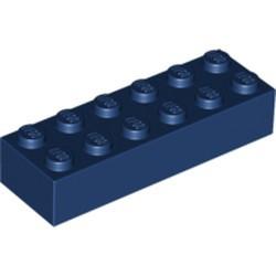 Dark Blue Brick 2 x 6 - new