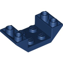 Dark Blue Slope, Inverted 45 4 x 2 Double with 2 x 2 Cutout - used