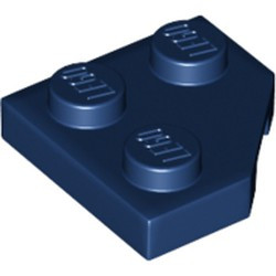 Dark Blue Wedge, Plate 2 x 2 Cut Corner - used