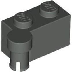 Dark Gray Hinge Brick 1 x 4 Swivel Top - used