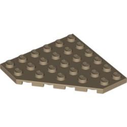 Dark Tan Wedge, Plate 6 x 6 Cut Corner - new