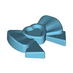Medium Azure Friends Accessories Hair Decoration, Bow with Heart, Long Ribbon and Pin