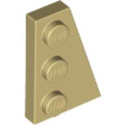 Tan Wedge, Plate 3 x 2 Right - new