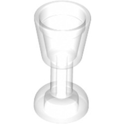 Trans-Clear Minifigure, Utensil Goblet - new