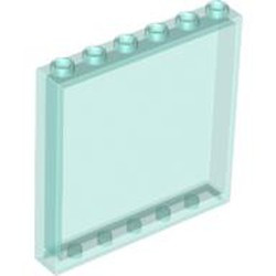 Trans-Light Blue Panel 1 x 6 x 5 - new
