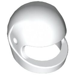 White Minifigure, Headgear Helmet Motorcycle (Standard) - used