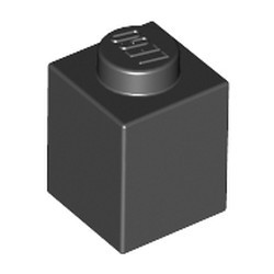 Black Brick 1 x 1 - used