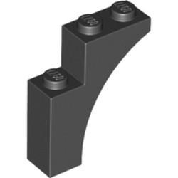 Black Brick, Arch 1 x 3 x 3 - new