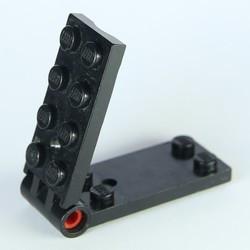 Black Hinge Plate 2 x 4 - used
