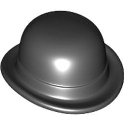 Black Minifigure, Headgear Hat, Bowler