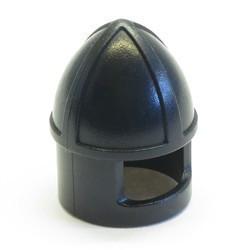 Black Minifigure, Headgear Helmet Castle with Chin Guard - used