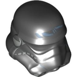 Black Minifigure, Headgear Helmet SW Stormtrooper, Shadow Trooper Pattern