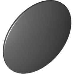 Black Minifigure, Shield Round with Rounded Front