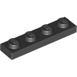 Black Plate 1 x 4 - used