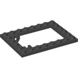 Black Plate, Modified 6 x 8 Trap Door Frame Horizontal