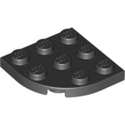 Black Plate, Round Corner 3 x 3 - new