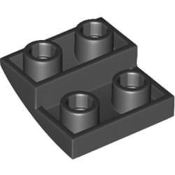 Black Slope, Curved 2 x 2 Inverted