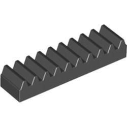 Black Technic, Gear Rack 1 x 4 - used