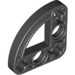Black Technic, Liftarm, Modified L-Shape Quarter Ellipse Thin 3 x 3