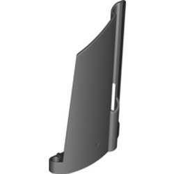 Black Technic, Panel Fairing #21 Large Long, Small Hole, Side B