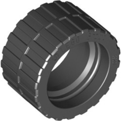 Black Tire 24 x 14 Shallow Tread, Band Around Center of Tread - new