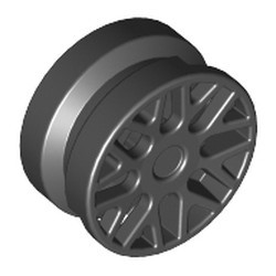 Black Wheel 11mm D. x 6mm with 8 'Y' Spokes - new