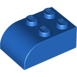 Blue Slope, Curved 3 x 2 x 1 with Four Studs