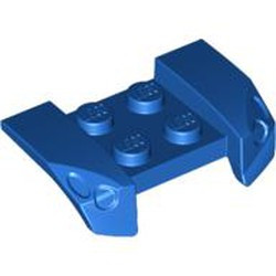 Blue Vehicle, Mudguard 2 x 4 with Headlights Overhang