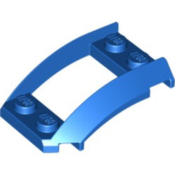 Blue Wedge 4 x 3 Open with Cutout and 4 Studs - new