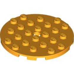 Bright Light Orange Plate, Round 6 x 6 with Hole - used