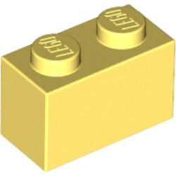 Bright Light Yellow Brick 1 x 2 - new