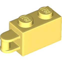 Bright Light Yellow Brick, Modified 1 x 2 with Handle on End - Bar Flush with Edge of Handle - new