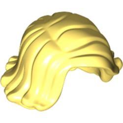 Bright Light Yellow Minifigure, Hair Female Short Swept Sideways