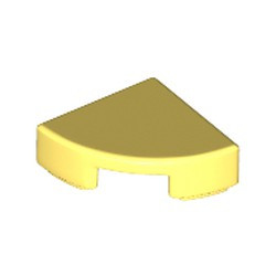 Bright Light Yellow Tile, Round 1 x 1 Quarter - new