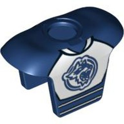 Dark Blue Minifigure, Hockey Body Armor with Raccoon Pattern - used