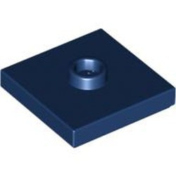 Dark Blue Plate, Modified 2 x 2 with Groove and 1 Stud in Center (Jumper) - used