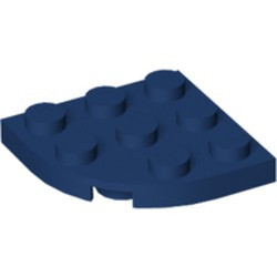 Dark Blue Plate, Round Corner 3 x 3 - new