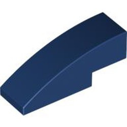 Dark Blue Slope, Curved 3 x 1 - new