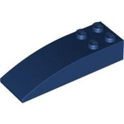 Dark Blue Slope, Curved 6 x 2 - used