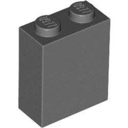Dark Bluish Gray Brick 1 x 2 x 2 with Inside Stud Holder - new