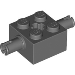 Dark Bluish Gray Brick, Modified 2 x 2 with Pins and Axle Hole