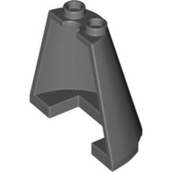 Dark Bluish Gray Cone Half 4 x 2 x 3 - new