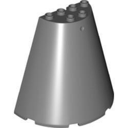 Dark Bluish Gray Cone Half 8 x 4 x 6 - new