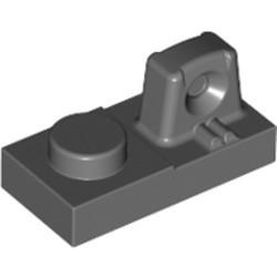 Dark Bluish Gray Hinge Plate 1 x 2 Locking with 1 Finger On Top