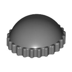 Dark Bluish Gray Minifigure, Headgear Cap, Knit - used